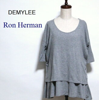 Demi Lee / LONDON HEARTS man / ティアードフレアートップス half-length sleeves wide neck cut-and-sew / DEMYLEE / Ron Herman / #