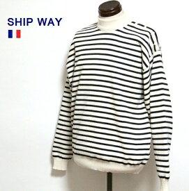【SALE\14000→7700】 SHIP WAY / フレンチ ブルトン ボーダー ニット トップス フランス製 / セーター デッドストック 長袖