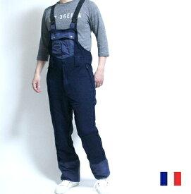 フランス ポリス アクティブ ストレッチ オーバーオール / ジャケット サスペンダー パンツ つなぎ POLICE / デッドストック / pd