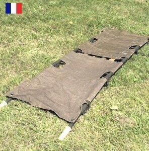 フランス軍 50年代スチール製 折り畳み 担架 / デッドストック / pd