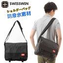 ショルダーバッグ メッセンジャーバッグ 防水 swisswin スイスウィン ビジネスバッグ 撥水加工 大容量 防水メッセンジャーバッグ PCバ…