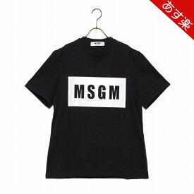 エムエスジーエム トップス BOX LOGO T-SHIRT ボックス ロゴ 2640MM67 メンズ 2019SS BLACK 99 MSGM 【新品】