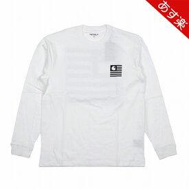 【最大1000円OFFクーポン配布中!】 カーハート メンズ ロンT 長袖Tシャツ L/S STATE PATCH T-SHIRTS ロングスリーブ ステイトパッチ Tシャツ I026410 0200 WHITE Carhartt 【新品】