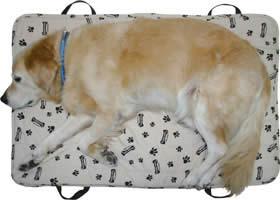 【介護用品・ベッド/マット・洗える】あいばろオリジナル 10mm厚持ち手付強力ハニカムマット(犬用マット)【あす楽対応】