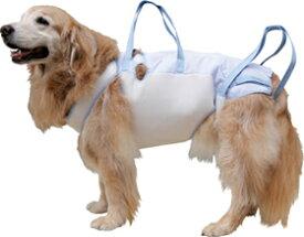 【大型犬用介護用品】後脚付 着たままねんねのハニカムつなぎ