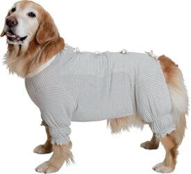 日本製オーガニックコットン ガーゼ肌着《草木染・背中リボン》【大型犬用ウェア】