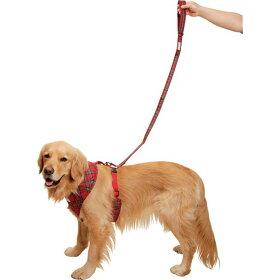 持ち手クッション付きリード(タータンチェック)【大型犬向け】<あす楽対応>