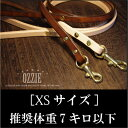 ★本ヌメ革ベンズ・レザーリード【XSサイズ】★小型犬(推奨体重7キロ以下)