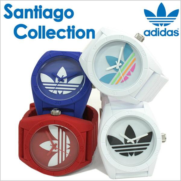 アディダス 腕時計 adidas 時計 アディダス 時計 adidas originals 腕時計 アディダス オリジナルス 時計 adidasoriginals 腕時計 アディダス腕時計 アディダス時計 サンティアゴ SANTIAGO メンズ レディース 白 シリコン ベルト 人気 防水 マルチ カラー