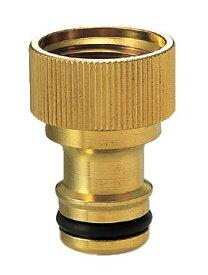 ワンタッチニップル(ブラス)|ガーデニングの水栓用。お庭の蛇口用 【メール便対応可】