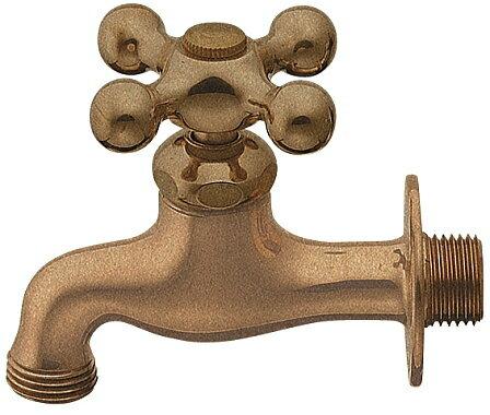 701-025-13 【レトロ水洗】ガーデン横水栓(レトロ) |レトロ水洗なガーデニング用の水栓。庭用の単水栓