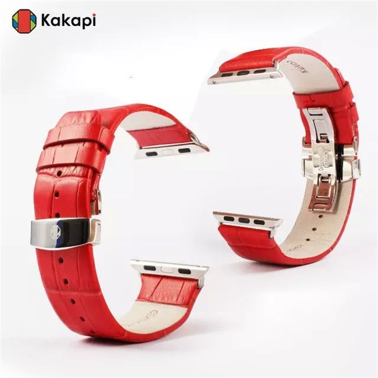 Apple watch 38mm 42mm バンド交換/apple watch レトロ風 本革 アップルウォッチ 軽量 アダプター付 バンド 牛革 連結器付き オシャレ アップル 明るく、高級感のあふれる本革タイプのベルトです