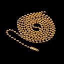 【送料無料】22K ゴールド GP ボールチェーン 1.2mm クロムハーツが当たる メンズ ジュエリー 贈り物 プレゼント お兄系 アクセサリー シルバー ゴールド 刻印 彼氏 人気 ブランド