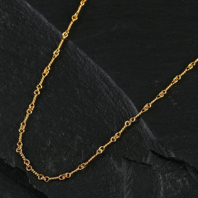 22KゴールドGP ツイストチェーン クロムハーツが当たる メンズ ジュエリー 贈り物 プレゼント お兄系 アクセサリー シルバー ゴールド 刻印 彼氏 人気 ブランド