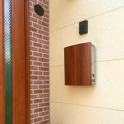 郵便ポストLEONMB4504-Mネオ・ステンレス(マグネット付)壁付け壁掛けおしゃれステンレス郵便受けポール別売り