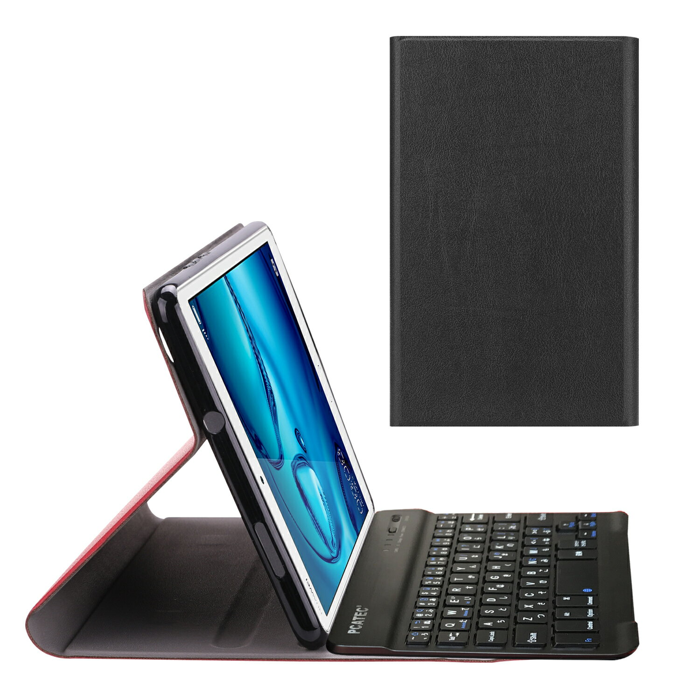 【送料無料】SoftBank MediaPad M3 Lite s / HUAWEI MediaPad M3 Lite 8.0 専用 超薄レザーTPUケース付き Bluetooth キーボード☆US配列☆日本語かな入力対応