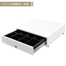 【BUSICOM】モジュラーキャッシュドロアー[中型]4B/8C 白 日本製 BC-423M-W(8C)♪