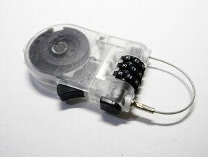 ワイヤーロック リールロック 3桁 ダイヤル式 RLKD3001おすすめ ダイアル リール式 旅行 子供 ロードバイク クロスバイク MTB 鍵不要 ケーブルロック ダイヤルロック 長い 頑丈 防犯 カギ ロック