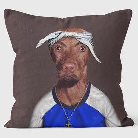 PETS ROCK(ペッツロック)クッションカバー【TWO RAP】【公式オンラインストア】 We Love Cushions takkoda ペット セレブ 有名人 犬 猫 ドッグ キャット レディース