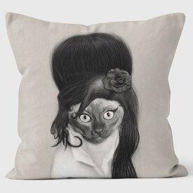 PETS ROCK(ペッツロック)クッションカバー【TATTOO MONO】【公式オンラインストア】 We Love Cushions takkoda ペット セレブ 有名人 犬 猫 ドッグ キャット レディース