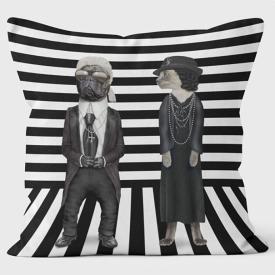 PETS ROCK(ペッツロック)クッションカバー【Fashion Paris Couple】【公式オンラインストア】 We Love Cushions takkoda ペット セレブ 有名人 犬 猫 ドッグ キャット レディース