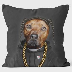 PETS ROCK(ペッツロック)クッションカバー【Rap (On Black)】【公式オンラインストア】 We Love Cushions takkoda ペット セレブ 有名人 犬 猫 ドッグ キャット レディース