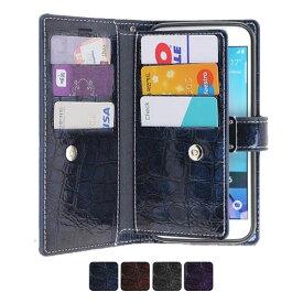 iPhone6/6s アイフォン6 アイフォン6s ギャラクシーs9 エッジ ケース カバー GALAXY CASE galaxy s8 galaxy s7 edge galaxy s8 スマホ カバー 財布型 手帳型 カード6枚 お札 収納スペース ストラップ付きクロコ柄 エナメル