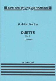 ピアノ 楽譜 シンディング   デュエット 作品41の1 アンダンテ(2台4手)   Duette Op.41-1 Andante(2P4H)