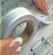 レッスン 教則 教材 教本 | 貼ってはがせる五線テープ「五楽線(ごらくせん)」幅広タイプ <15mm幅> ピアノ 楽譜