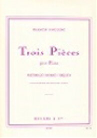 ピアノ 楽譜 プーランク | 3つの小品 作曲家自身による1953年新版 | 3 PIECES Nouvelle Edtion 1953 revue par l'auteur