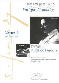 ピアノ 楽譜 グラナドス   作品全集 第15巻 ワルツ集1   Integral para Piano Vol.15 Valses 1