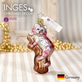 [11月1日予約発送]オーナメント ドイツINGE-GLAS MANUFAKTUR(インゲ・グラス)[N292][不思議の国のアリス Alice in Wonderland]チェシャ猫 11cm ハンドメイドオーナメント Made in Germany 職人の手作り ヨーロッパ直輸入 クリスマス[送料無料]