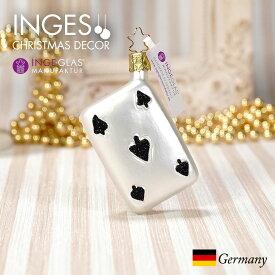 [11月1日予約発送]オーナメント ドイツINGE-GLAS MANUFAKTUR(インゲ・グラス)[N287][不思議の国のアリス Alice in Wonderland]トランプ スペード 7cm ハンドメイドオーナメント Made in Germany 職人の手作り ヨーロッパ直輸入 クリスマス[送料無料]