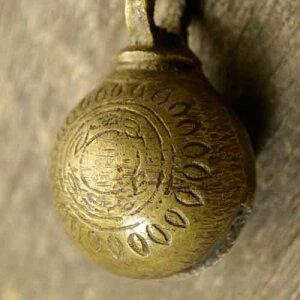 アニマルベル インド アンティーク 古鈴 一点物 真鍮製 MGD-O-BELL-155