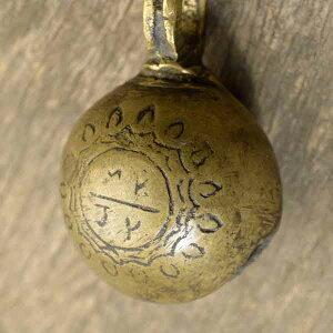 アニマルベル インド アンティーク 古鈴 一点物 真鍮製 MGD-O-BELL-159