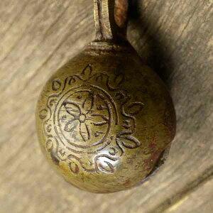 アニマルベル インド アンティーク 古鈴 一点物 真鍮製 MGD-O-BELL-161