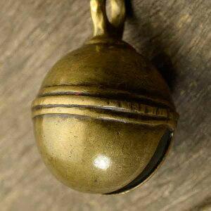 アニマルベル インド アンティーク 古鈴 一点物 真鍮製 MGD-O-BELL-173