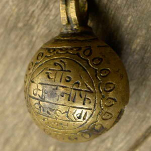 アニマルベル インド アンティーク 古鈴 一点物 真鍮製 MGD-O-BELL-178