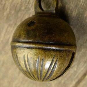 アニマルベル インド アンティーク 古鈴 一点物 真鍮製 MGD-O-BELL-210