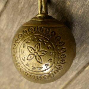 アニマルベル インド アンティーク 古鈴 一点物 真鍮製 MGD-O-BELL-220