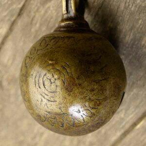 アニマルベル インド アンティーク 古鈴 一点物 真鍮製 MGD-O-BELL-232