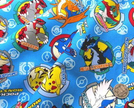 キャラクター 生地 はぎれ カットクロス ハギレ 40cm ・ポケットモンスター(ブルー)#78