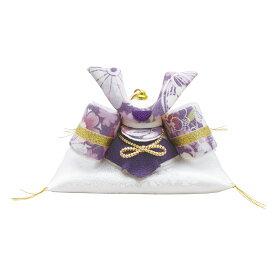 端午の節句飾り 透彩兜飾り 小 ザブ付 ゆかり 手作りちりめん細工 五月人形 子供の日 リュウコドウ