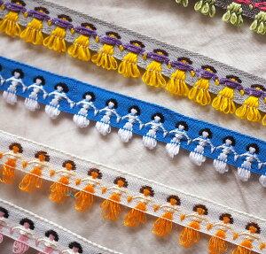エスニックチロリアンテープ(民族柄)1メートルチロル チロリアン テープ リボン 縁取り 縁どり ふちどり 飾り かざり ピコ 花 花柄 女の子 男の子 手芸 手作り フリンジ 問屋