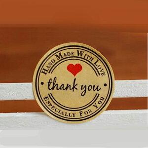 【36枚入】ありがとうシール サンキュー <ハンドメイド>THANKYOU ありがとう ステッカー ショップ用 店舗 プレゼント雑貨 クッキー プチギフト 封 小物 発送 梱包 資材 ホワイトデイ 誕生日