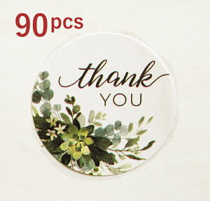 【90枚入】ありがとうシール サンキュー THANKYOU ありがとう ステッカー ショップ用 お客様 店舗 プレゼント雑貨 クッキー 結婚式 ハンドメイド プチギフト 封 小物 発送 梱包 資材 ホワイトデ