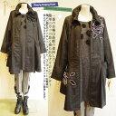 【日本製 洗える】襟は便利なワイヤー入り!雨風にも強い撥水ナイロン素材は季節の変わり目にちょうどいい♪ トレンチコート ロングコ…