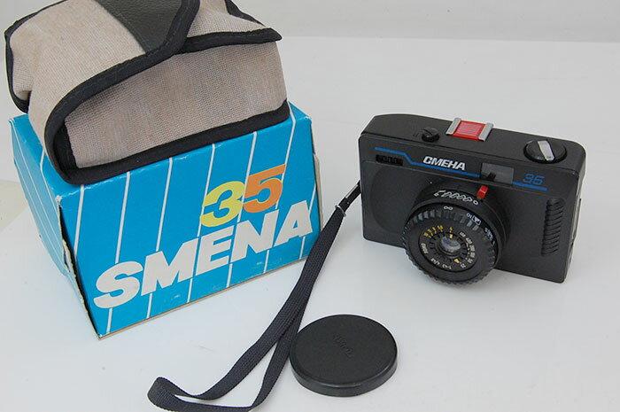 【トイデジ/トイデジカメ/トイカメラ】デッドストック品  SMENA 35 ロモ スメナ35 ブルー