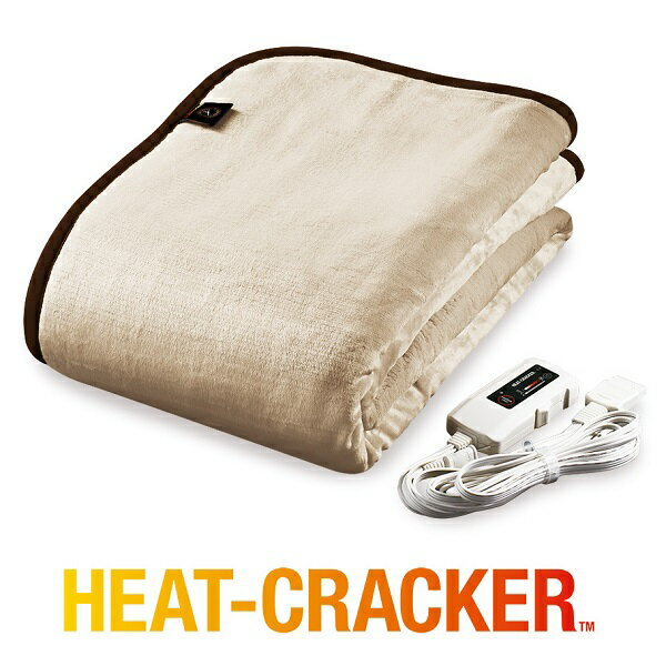 電気毛布 ヒートクラッカー シングル タイマー付き 掛け敷き兼用 洗える 掛け毛布 電気 暖かい フランネル 毛布 送料無料