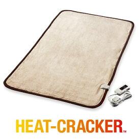 電気毛布 ヒートクラッカー シングル タイマー付き 敷き毛布 洗える 電気 毛布 フランネル 送料無料
